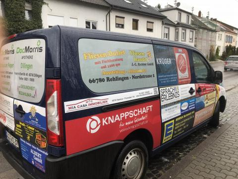 Werbe Auto in Lisdorf