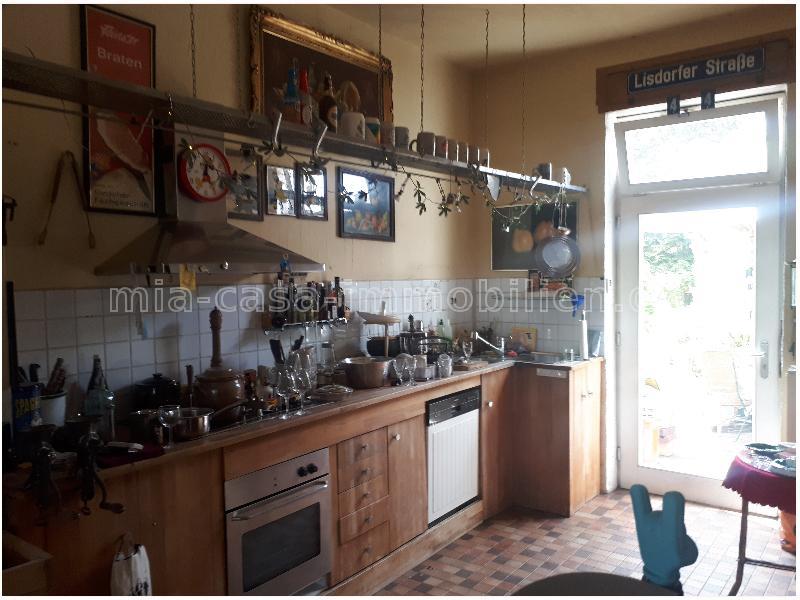 Die Küche im Erdgeschoss.
